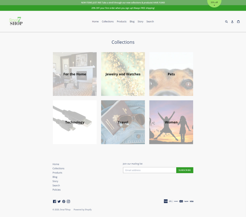 Client 6 Collections Page
