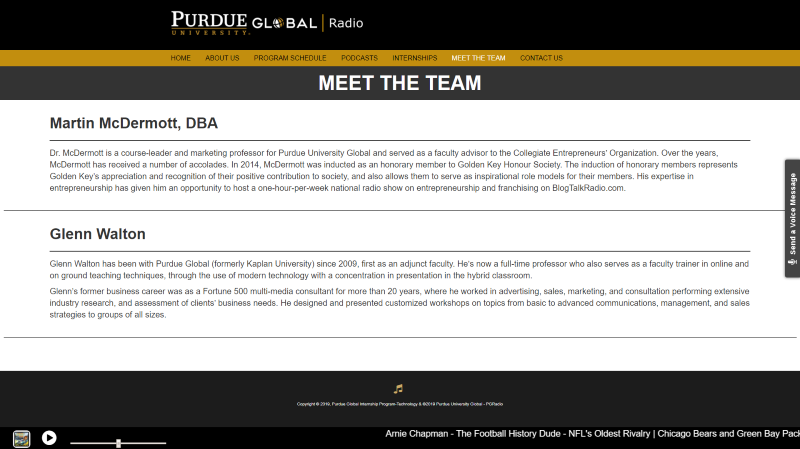 Client 3 Meet Team Page