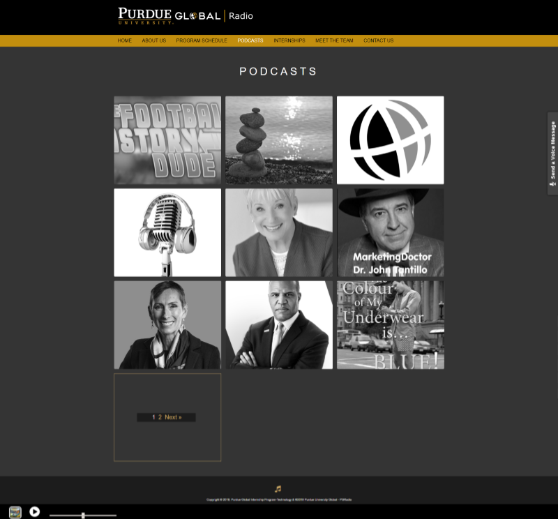 Client 3 Podcasts Page