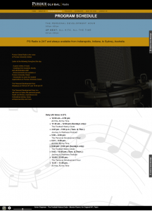 Client 3 ProgSchedule Page